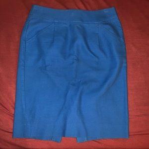 J. Crew blue pencil skirt